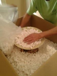 Inpakken van een vaas 4